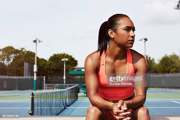 Tennis player Heather Watson is photographed on March 18 2016 in Miami United States
