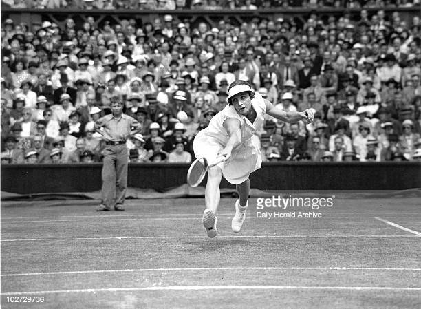 Tennis player Helen Wills Moody in action at Wimbledon 4 July 1935 Helen Wills Moody dominated women's tennis from 1926 until the outbreak of World...