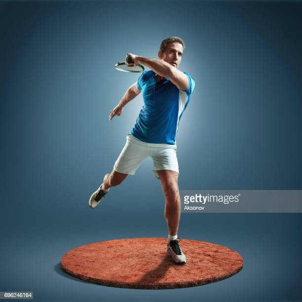 tennis player in action - sport set competition round stock photos and pictures