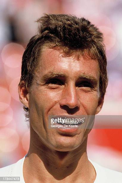 Tennis player Ivan Lendl during the final match of the Stella Artois Championships held at the Queen's Club which he won against Christo van Rensburg...