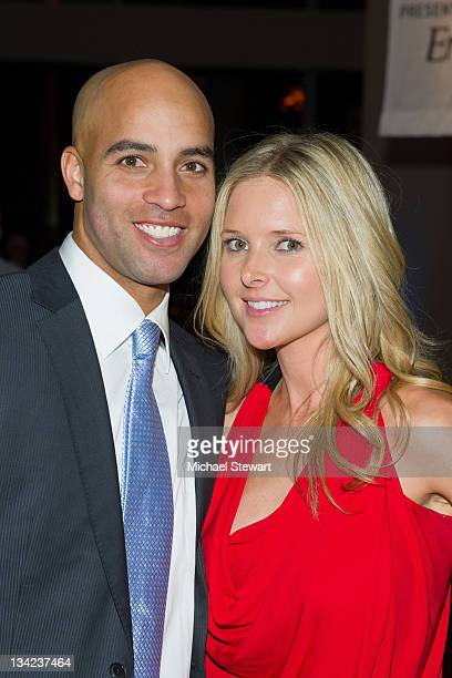 Tennis player James Blake and fiance Emily Snider attend James Blake's Serving for a Cure Charity event at 30 West 60th 11th Floor on November 28...