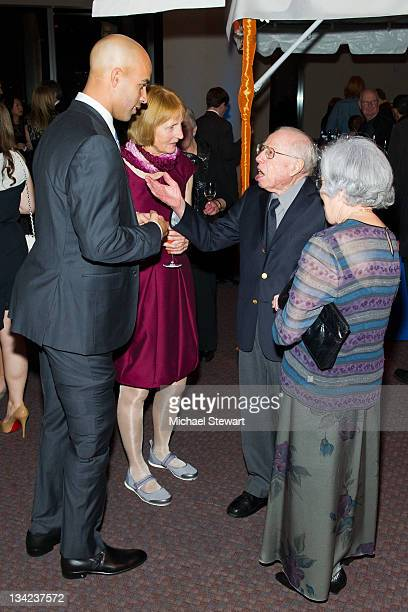 Tennis player James Blake Betty Blake and guests attend James Blake's Serving for a Cure Charity event at 30 West 60th 11th Floor on November 28 2011...