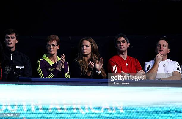Tennis player Jamie Murray Andy Murray's mother Judy Murray Andy Murray's girlfriend Kim Sears Physiotherapist Andy Ireland Strength and conditioning...