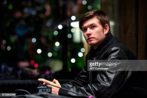 US tennis player Jared Donaldson is pictured on November 6 2017 in Milan during the Media day prior to the first edition of the Next Generation ATP...