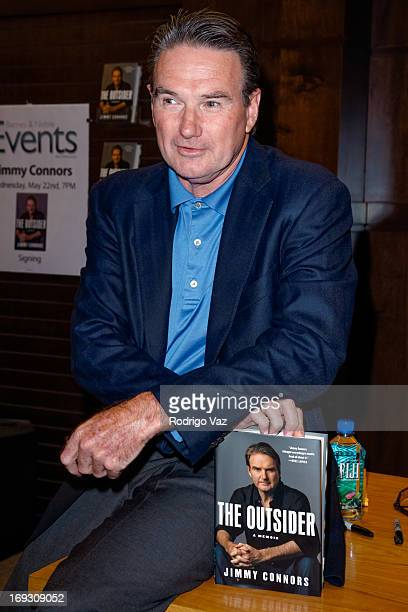 Tennis player Jimmy Connors signs copies of his book The Outsider at Barnes Noble bookstore at The Grove on May 22 2013 in Los Angeles California