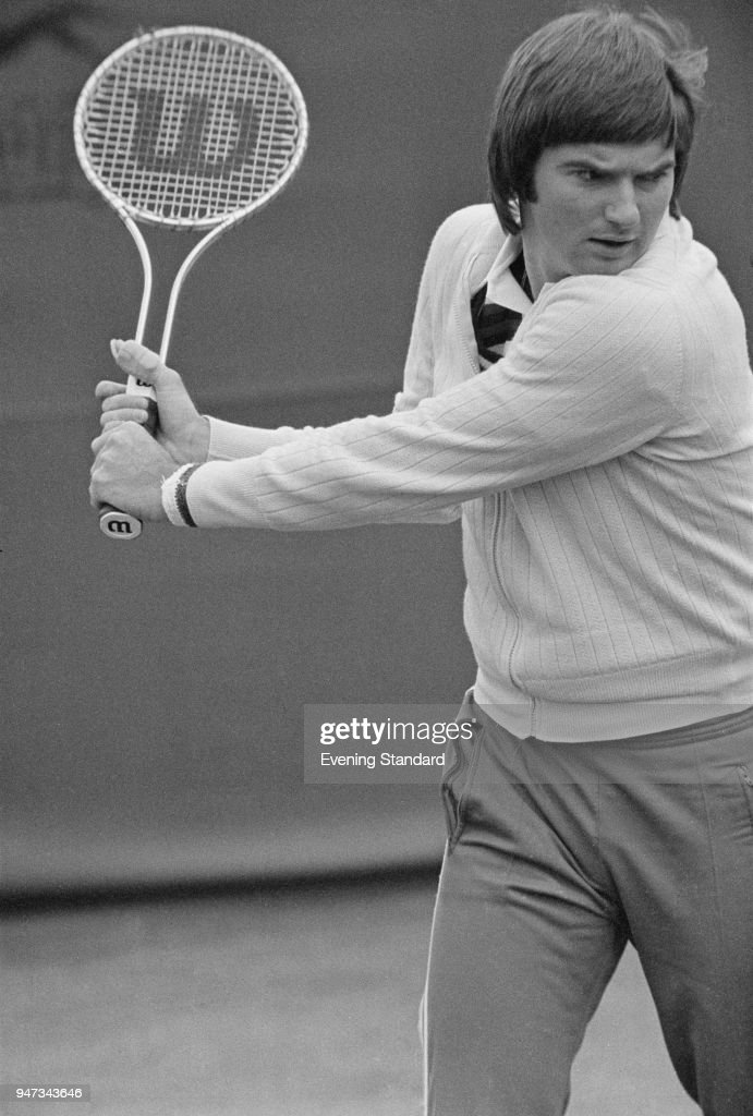 Tennis player Jimmy Connors training for Wimbledon, UK, 21st June 1977.