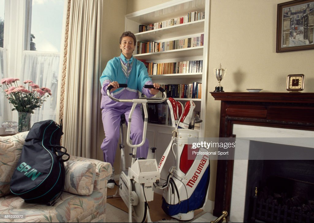 Jo Durie At Home : News Photo