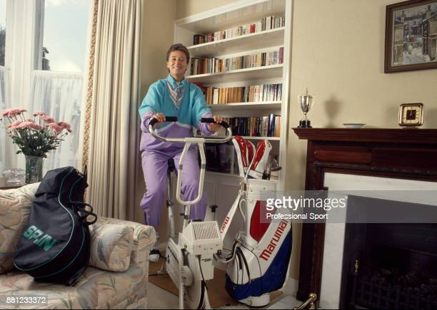 Tennis player Jo Durie of Great Britain at home circa 1983