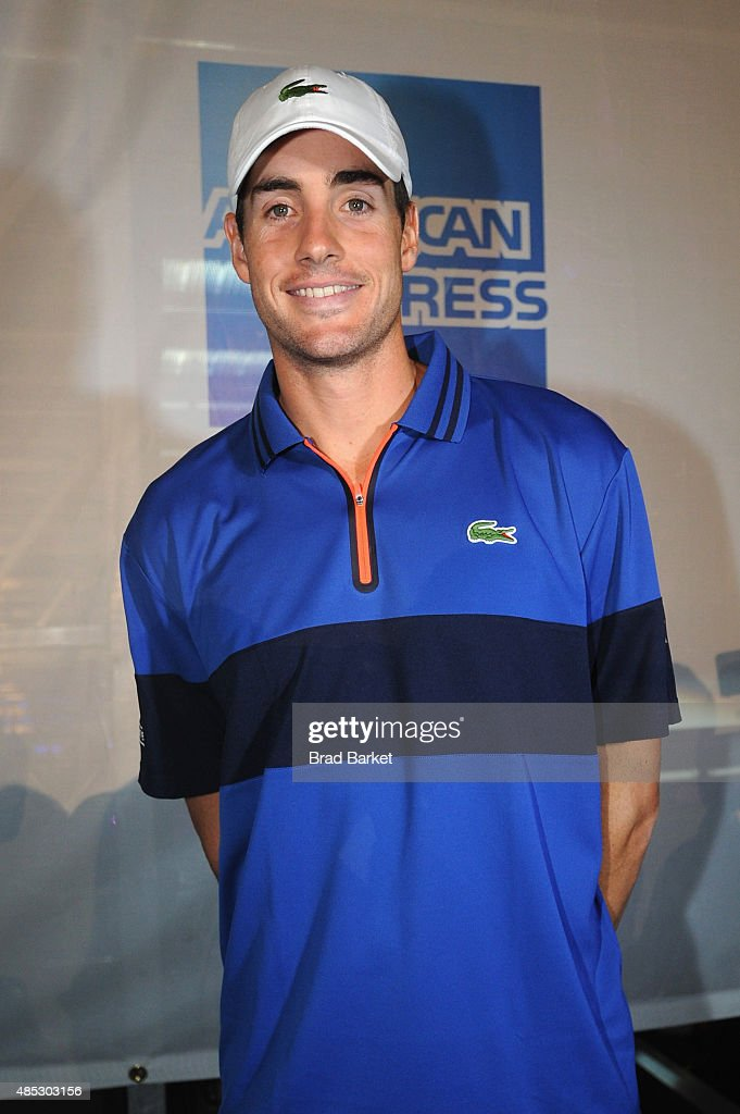 Tennis Player John Isner attends Rally On The River presented by American Express, featuring Maria Sharapova, John Isner, Monica Puig and DJ Set By CHROMEO at Pier 97 on August 26, 2015 in New York City.