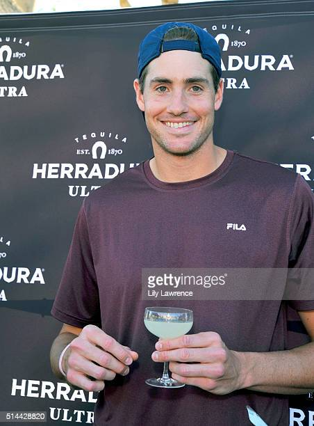 Tennis player John Isner attends Tequila Herradura's 'Mix For A Cause' at 12th Annual Desert Smash Benefitting St Jude Children's Research Hospital...