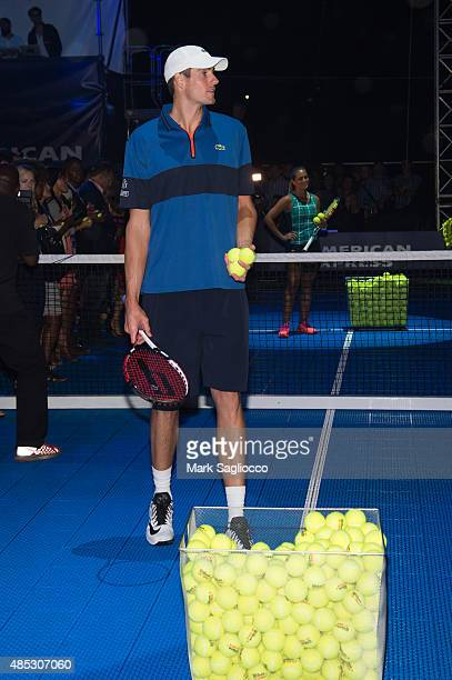 Tennis Player John Isner attends the 2015 American Express Rally on the River at Pier 97 on August 26, 2015 in New York City.