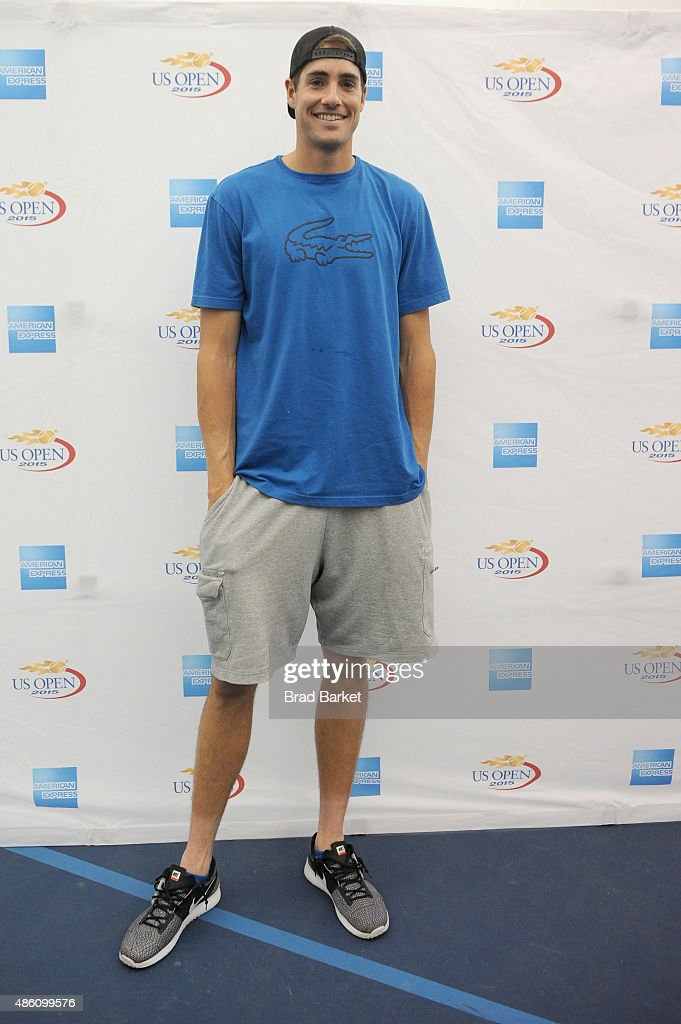 Tennis player John Isner attends The American Express Fan Experience at The 2015 US Open featuring 'You Vs. Sharapova' Virtual Reality Experience and American Express Fan Court at USTA Billie Jean King National Tennis Center on August 31, 2015 in New York City.