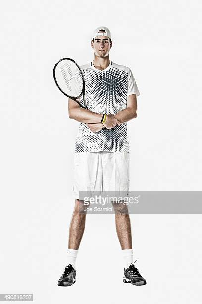 Tennis player John Isner is photographed for Self Assignment on December 4 2010 in Manhattan Beach California