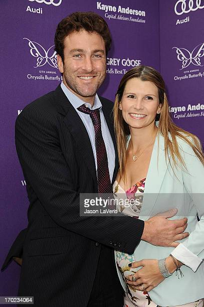 Tennis player Justin Gimelstob and Cary Kendall Sinnott attend the 12th annual Chrysalis Butterfly Ball on June 8 2013 in Los Angeles California