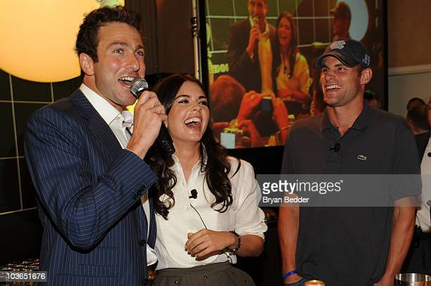 Tennis player Justin Gimelstob chef Katie Lee and tennis player Andy Roddick attend the 2010 Taste of Tennis at the W New York on August 26 2010 in...