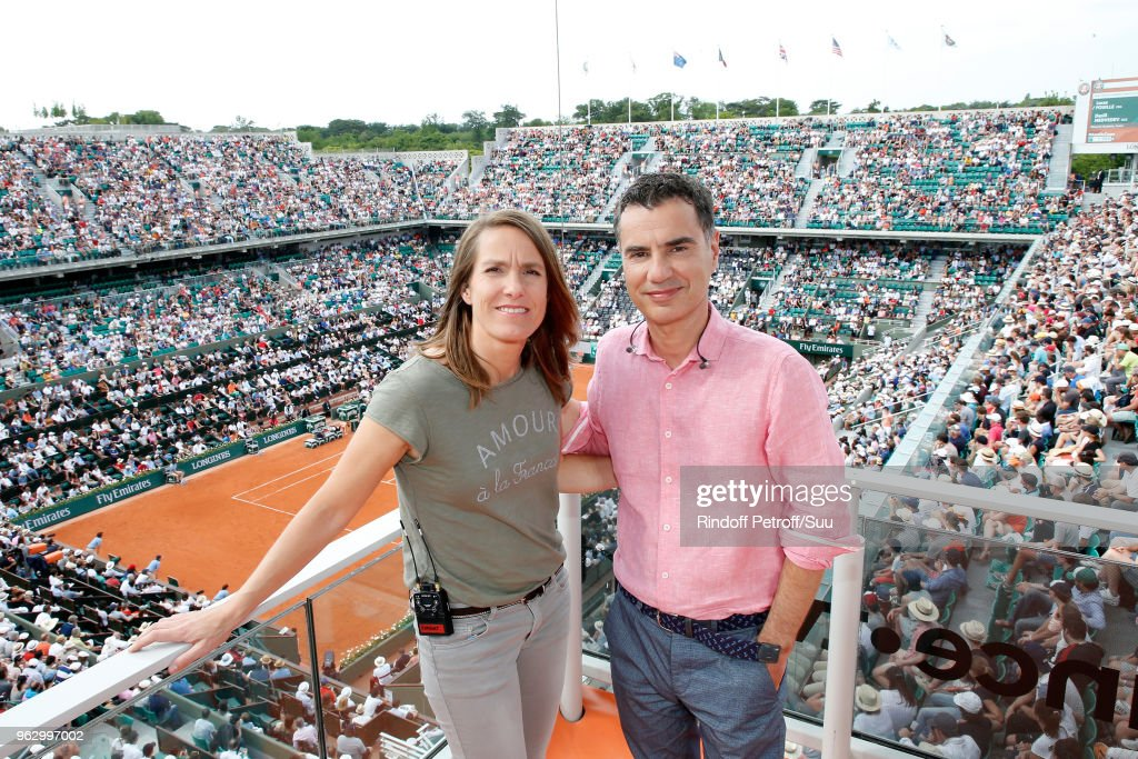 Celebrities At 2018 French Open - Day One : ニュース写真