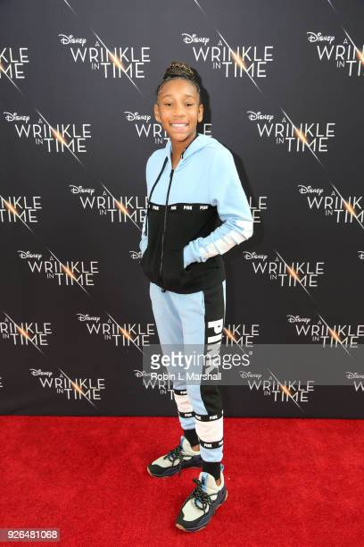 Tennis Player Kalli Minor attends Disney's A Wrinkle In Time to Compton at Douglas F Dollarhide Community Center on March 2 2018 in Compton California