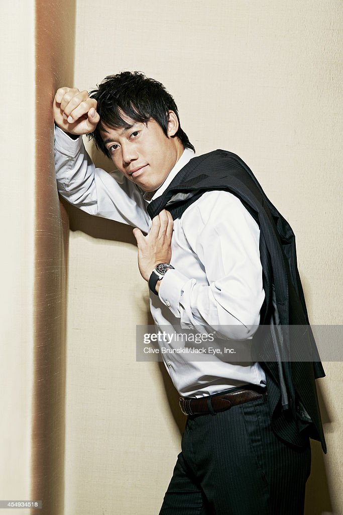 Tennis player Kei Nishikori is photographed at the Kitano hotel in New York City on August 28, 2013.