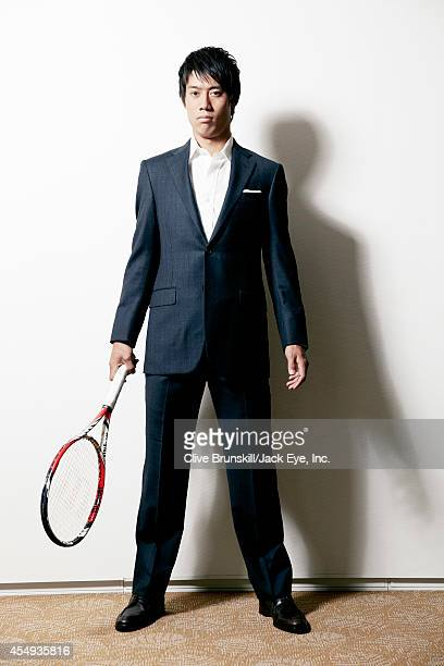Tennis player Kei Nishikori is photographed at the Kitano hotel in New York City on August 28 2013