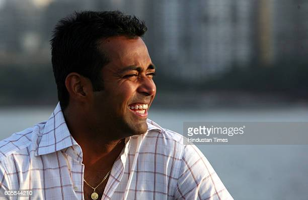Tennis player Leander Paes poses for a profile shoot at Nariman Point
