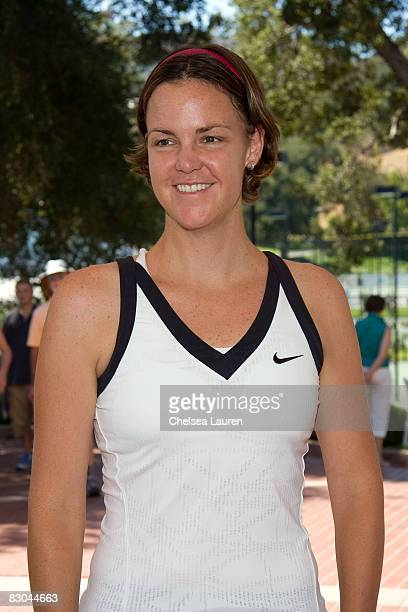 Tennis Player Lindsay Davenport arrives at the Bryan Brothers' all-star tennis smash at the Sherwood Country Club on September 27, 2008 in Thousand...