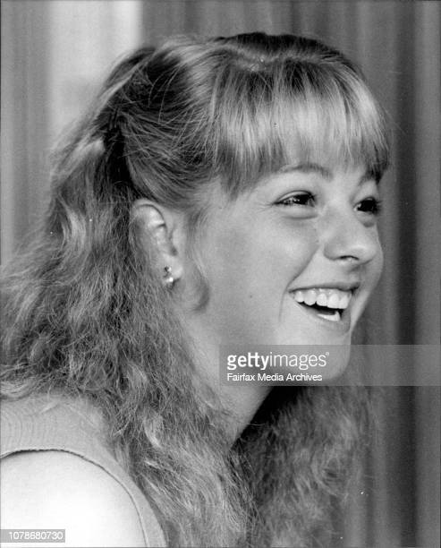 Tennis player Lisa Bonder who will be playing at the McDonalds Indoor championships Hordern Pavilion July 28 1983