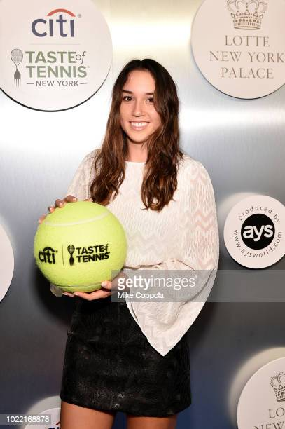 Tennis player Louisa Chirico attends the Citi Taste Of Tennis gala on August 23, 2018 in New York City.