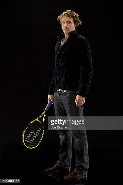 Tennis player Lucas Pouille is photographed for Self Assignment on December 17 2013 in Madrid Spain