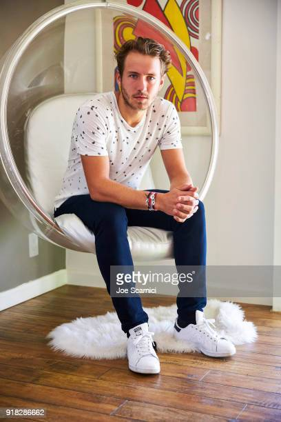 Tennis player Lucas Pouille poses for a portrait on March 8 2017 in Palm Springs California