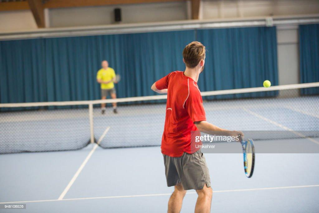Tennis Spieler machen ein Spiel : Stock-Foto