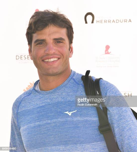 Tennis player Malek Jaziri arrives at 13th Annual Desert Smash benefitting St Jude Children's Research Hospital on March 7 2017 in Rancho Mirage...