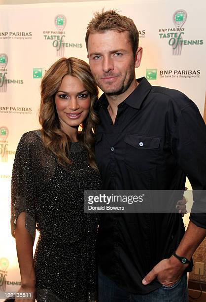 Tennis player Mardy Fish and Stacey Gardner attend the 12th Annual BNP Paribas Taste of Tennis at W New York Hotel on August 25, 2011 in New York...