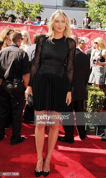Tennis player Maria Sharapova arrives at the 2014 ESPY Awards at Nokia Theatre LA Live on July 16 2014 in Los Angeles California