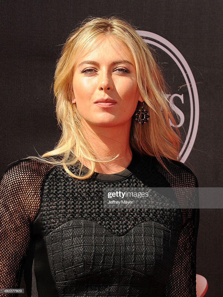 Tennis player Maria Sharapova arrives at the 2014 ESPY Awards at Nokia Theatre L.A. Live on July 16, 2014 in Los Angeles, California.