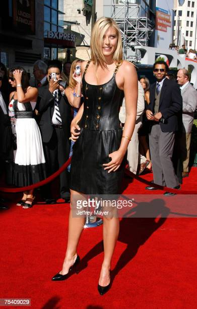 Tennis player Maria Sharapova arrives to the 2007 ESPY Awards at the Kodak Theatre on July 11 2007 in Hollywood California