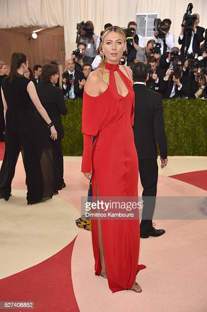 Tennis player Maria Sharapova attends the 'Manus x Machina Fashion In An Age Of Technology' Costume Institute Gala at Metropolitan Museum of Art on...