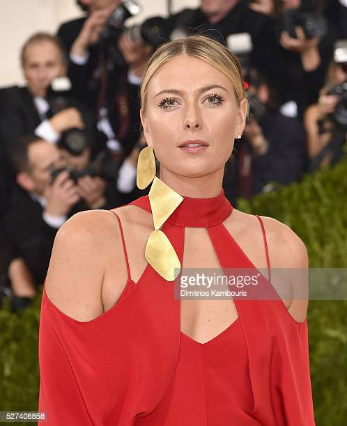 Tennis player Maria Sharapova attends the Manus x Machina Fashion In An Age Of Technology Costume Institute Gala at Metropolitan Museum of Art on May...