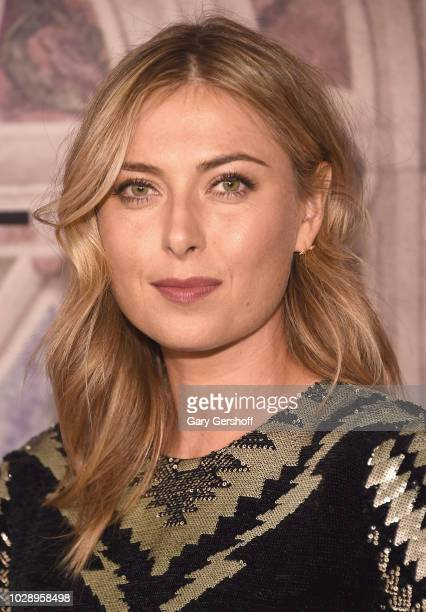 Tennis player Maria Sharapova attends the Ralph Lauren 50th Anniversary event during New York Fashion Week at Bethesda Terrace on September 7 2018 in...