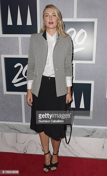 Tennis player Maria Sharapova attends the Tiger Woods Foundation's 20th Anniversary Celebration at the New York Public Library on October 20 2016 in...