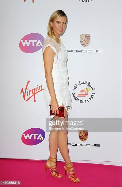 Tennis Player Maria Sharapova attends the WTA PreWimbledon Party as guests enjoy Ciroc Vodka presented by Dubai Duty Free at Kensington Roof Gardens...