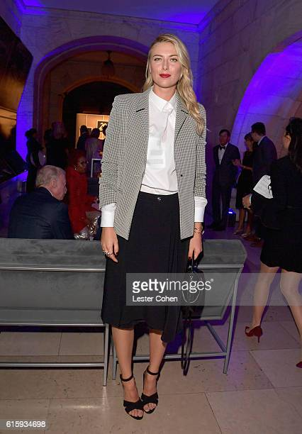 Tennis player Maria Sharapova attends Tiger Woods Foundation's 20th Anniversary Celebration at the New York Public Library on October 20 2016 in New...