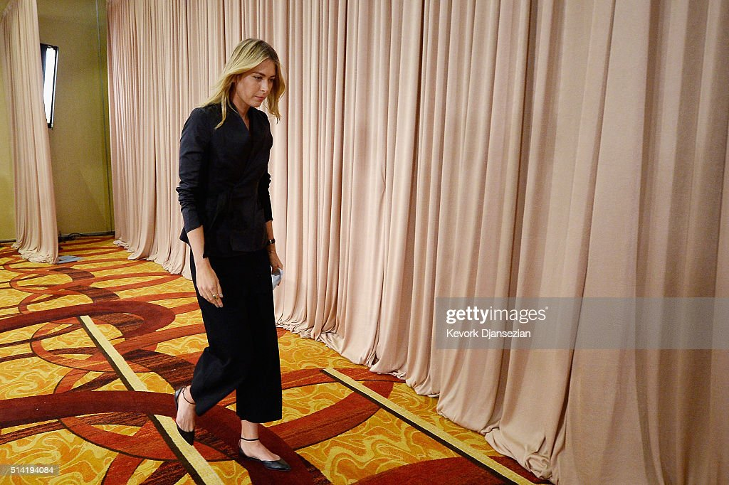 Maria Sharapova Announces She Failed Doping Test : News Photo