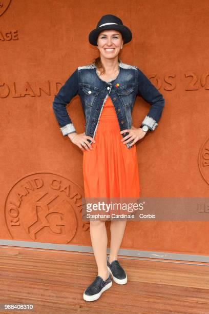 Tennis Player Martina Hingis attends the 2018 French Open Day Eleven at Roland Garros on June 6 2018 in Paris France