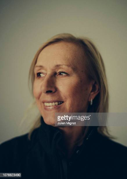 Tennis player Martina Navratilova poses for a portrait on February 2018 in Monaco, France.
