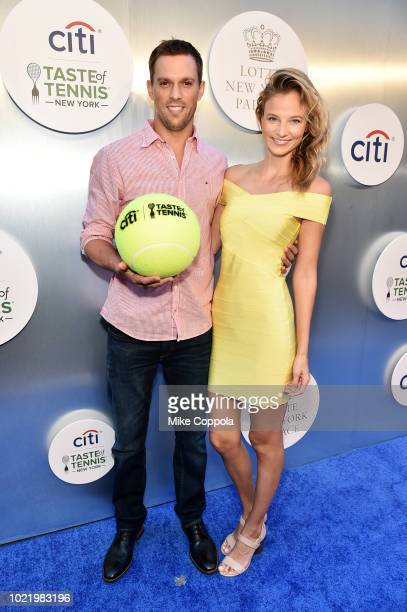 Tennis player Mike Bryan and model Nadia Murgasova attend the Citi Taste Of Tennis gala on August 23 2018 in New York City