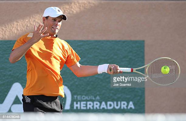 Tennis player Mike Bryan attends the 12th Annual Desert Smash Benefitting St Jude Children's Research Hospital presented by Tequila Herradura on...