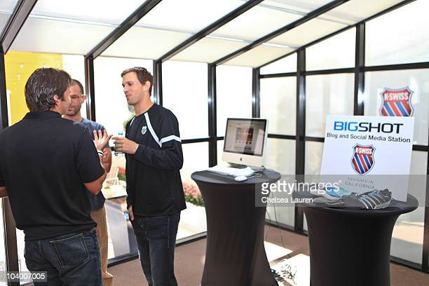 Tennis player Mike Bryan attends the KSwiss US Open Viewing Party at St Giles Hotel on September 11 2010 in New York City