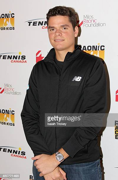 Tennis Player Milos Raonic attends The 2nd Annual Raonic Race For Kids Fundraiser Benefitting The Milos Raonic Foundation on November 19, 2013 in...