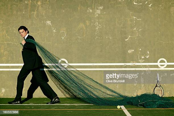 Tennis player Milos Raonic is photographed on December 8 2012 in Barcelona Spain