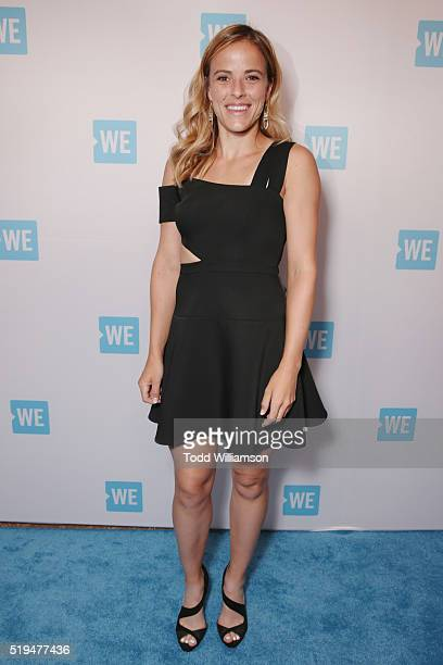 Tennis player Nicole Gibbs attends the WE Day Celebration Dinner at The Beverly Hilton Hotel on April 6 2016 in Beverly Hills California